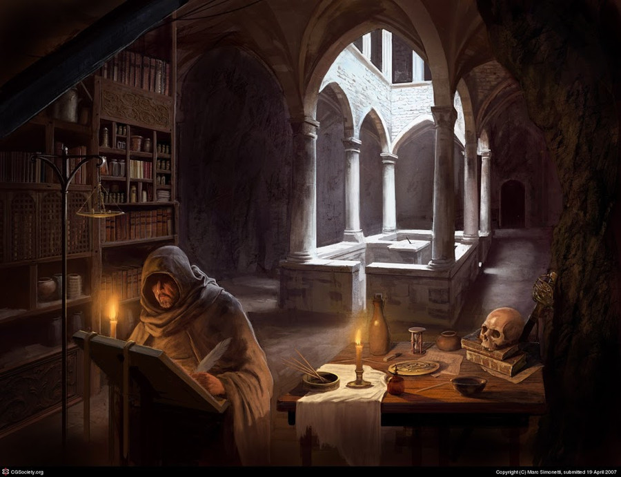 Mage Studying